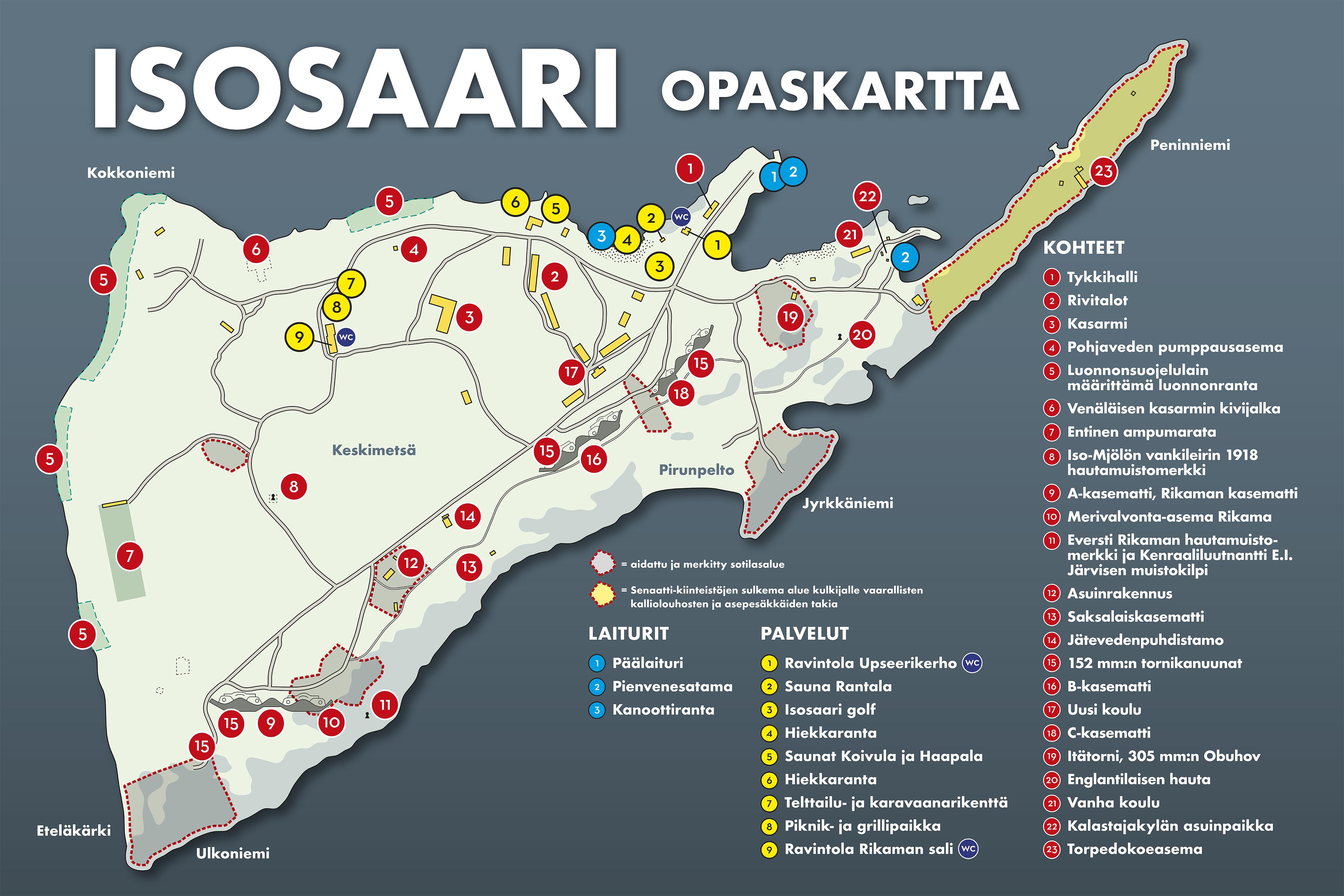 Isosaari Kartta